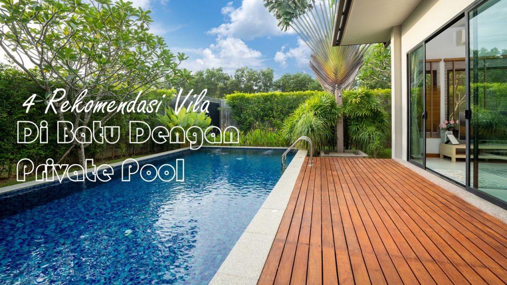 Villa Batu Malang dengan Private Pool